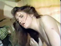 Long haired horny whore with sexy body bounced on hard penis face to face and got ass fucked in doggy pose tough by the other dude. Watch that hard FMM sex in The Classic Porn sex video!