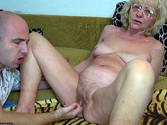 Eva might be past retirement age, but that doesn't mean that she doesn't want to get fucked hard so she hooks up with a younger stud.