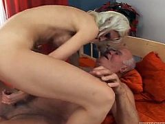 Grey haired still hungry man had the hottest sex in his long life. Today that dumpy fair haired woman with nice titties gave him awesome BJ. Enjoy that steamy oral sex in Fame Digital porn video!