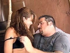 Charming Allie Haze Goes Hardcore With A Chubby Dude