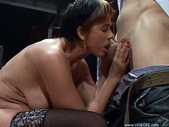 Cica is a horny mature slut being gangbanged by horny guys in this hot clop while she just wears stockings.
