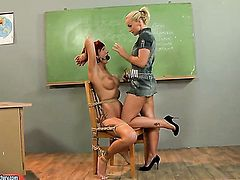 Blonde Kathia Nobili and Patricia Gold both have great lesbian sex experience