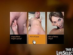 A totally fresh approach to watching porn videos in an interactive way. Enjoy today's greatest porn stars in life-like, realistic scenarios of your choosing. Direct your own show! Try it for FREE! A rookie fighter, Leyla Black arrives to NudefightClub's arena, to try herself against White Angel. She may look scared but will she be strong enough to win the match?