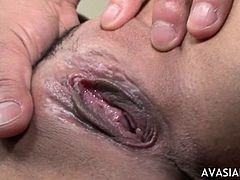 Jap hairy pussy spread wet massage