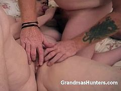 Grandmas Hunters brings you a hell of a free porn video where you can see how this brunette mature gives her man some great head while assuming very hot poses.
