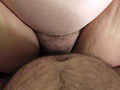 My BBW slut wife sucks my cock and gets a Creampie part 2