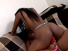 Make sure you have a look at this hot lesbian scene where these thick ebony babes fuck one another with a strapon.