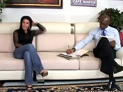 Catalina Cruz brings you a hell of a free porn video where you can see how the horny brunette milf Kendra Secrets sucks a big black cock with her vicious mouth.