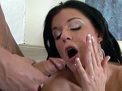 It's the guy's tasty dick which makes these slutty girls to play so nasty and passioante