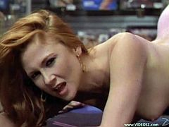 Have fun with this passionate lesbian scene where these beautiful ladies make your day as they please each other with sex toy.