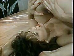 Two voluptuous lesbians licking each others pussies in 69 position