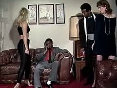 Classic Porn Scenes brings you a hell of a free porn video where you can see how this vintage interracial foursome gets out of control as this babes assume very hot poses.