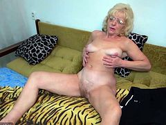 Horny man fucked old chubby granny