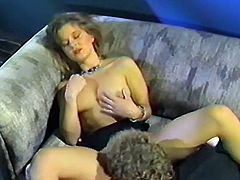 Sex-starved bimbo gets her pussy eaten and fucked hard