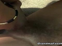 Grandma Fooki brings you a hell of a free porn video where you can see how an alluring brunette mature rides a hard cock in the woods til she reaches a breathtaking orgasm.