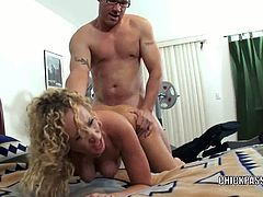 Chick Pass Amateur Network brings you a hell of a free porn video where you can see how this curly blonde milf gets her ass blasted hard into a massive anal orgasm.