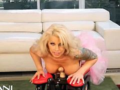Brooke Haven loves to get titty fucked so that is what she does. She slides the hard cock in between her beautiful soft boobies. Time to strip out of her sexy corset and skirt, ride the rocker totally nude.Enjoy her solo scene!