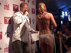 Dude, I was in the night club and there was contest wet t-shirts. I taped how many eye catching chicks demonstrated their big natural boobs which looked appetizing.