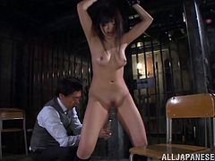 Take a look at this bondage video where this sexy Asian babe is masturbated by this guy while tied up as you hear her moan.