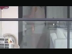 window spy hot neighbour milf