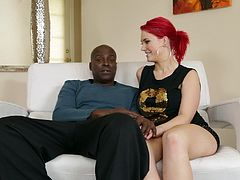 Four busty goddesses give an interview to Lexington Steele,