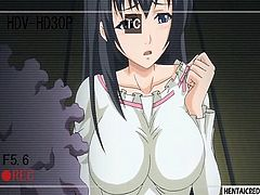 Hentai girl gets gangbanged rough and recorded