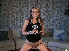 Courtney Cummz is a nasty blonde temptress always ready to misbehave. Watch her flaunting her hot ass while riding the sybian into heaven with her shaved slit.