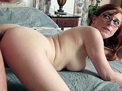 Deep anal sex with the busty redhead hottie Penny Pax