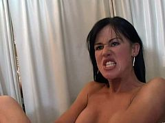 Lewd brunette lesbians L. Badcock and Dani O'neal are playing dirty games in a hospital. They fuck their juicy cunts with dildos and moan crazily with pleasure.