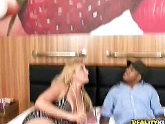 Kid Jamaica loves fuckable back porch of Blonde chicana Milly Amorim before throat job