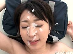 Get a load of this hardcore scene where the sexy Japanese teacher Arisa Misato is gangbanged by her students until she's covered by their cum.