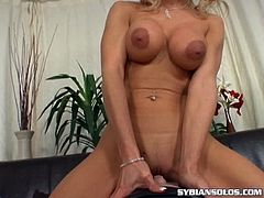 Make sure you don't miss this horny blonde slut showing some pretty amazing skills on her favorite Sybian toy. She is almost few moments alway to reach orgasm.
