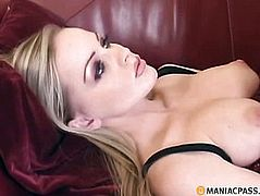Little takes off her black stockings