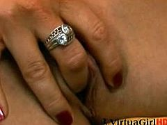 Stacy Silver is a mesmerizing blonde with a perfect body and a twat that is permanently wet and willing to be filled. Stacy uses her fingers to please herself.