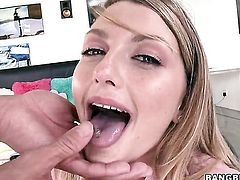 Staci Silverstone with big ass squeezes the juice out of rod with her skilled hands