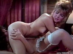Beautiful MILFs wear some sexy lingerie and lick the hell out of their delicious pussies in this incredibly hot retro tape.