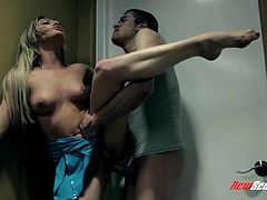 Take a look at this hot and intense hardcore scene where the sexy Bailey Blue sucks on this guy's thick cock before he rams is into her wet pussy.