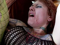 Steve Holmes fucks with tattooed Tallulah