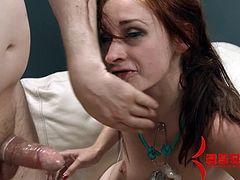 Assylym brings you a hell of a free porn video where you can see how the alluring redhead Violet Monroe gets banged and creampied while assuming very hot poses.