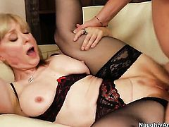 Dane Cross pounds hot blooded Nina Hartleys honeypot in every sex positon