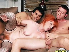 Mature Sasha Brand and Ramon are so fucking horny in this dick sucking action after ass fucking
