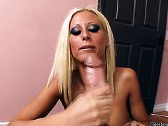 Sinfully sexy honey is hungry for fucking