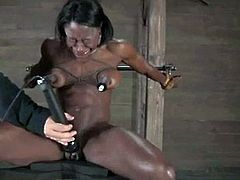 BDSM womans pussy  causing her to orgasm WF