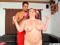 Plumper Pass brings you a hell of a free porn video where you can see how the BBW redhead Harley Ann rides a hard rod of meat into a massively intense orgasm.