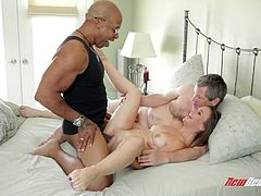 Make sure you check out this interracial scene where the beautiful Summer Rae is fucked by a black monster cock while her cuckold man watches.