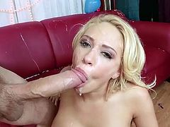 Kagney Linn Karter messy facialized by monster cock