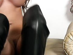 Madelyn Marie with big boobs and hairless twat enjoys great solo session