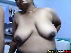 Mature Indian Woman Teasing Her Body