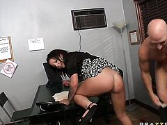 Johnny Sins loves naughty Madelyn Monroes amazing body and bangs her mouth as hard as possible
