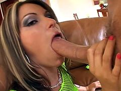 Down and dirty as this sultry big tits brunette slut sizzles in this nasty anal pounding with huge cock and filthy toys.